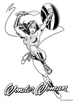 Print Wonder Woman Original art coloring pages | Wonder Woman ...