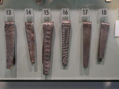 silver bracelets showing various stamps