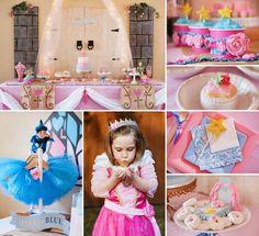 décoration anniversaire enfant - le thème Princesse pour la fête d'une petite fille