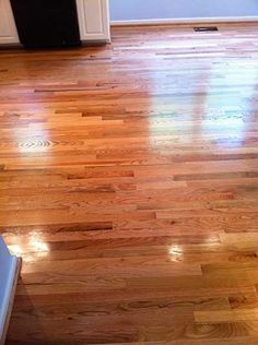 Red Oak Select With Clear Stain & Bona Mega Gloss