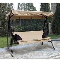 Κούνιες για τη βεράντα και το κήπο Κούνια-κρεβάτι 3 θέσεων 15077
