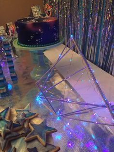 Cambria's 11th!  Dessert table - Galactic space Galaxy girls party | CatchMyParty.com