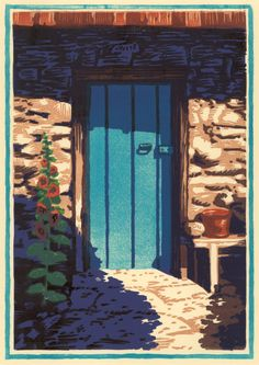 Door Like the Sky 8 block woodcut signed by BradTeareWoodcuts, $950.00