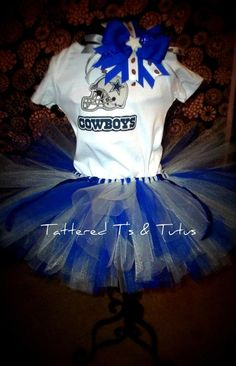 Dallas Cowboys Tutu i cant wait to have a little girl.her gpa wouldnever put her down when wearing this lol Dallas Cowboys Cheerleader Costume, Football Tutu, Football Girls, Tutu Outfits, Fashion Outfits, Halloween Outfits, Halloween Costumes, Cheerleading Outfits, Cheer Outfits