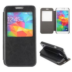Zwart compacte sideflip hoes voor Samsung Galaxy S5