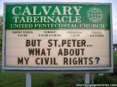 Civil RIghts Funny Church Signs, Fight The Good Fight, Civil Rights Movement, Sunday School, Worship, Christianity, The Unit, Humor, Pastor