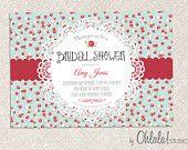 DIY Custom Printable VINTAGE CHIC Bridal Shower Invitation / Baby Shower Invitation Card. $15.00, via Etsy.
