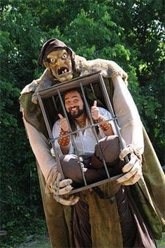 My friend Kree would love this. He did a similar one with bumble and the prospector from Rudolph....for Halloween though