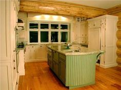 Dramatic Country/Rustic Kitchen by Kenneth L. Routh, A.I.A., Ann E. Brudno