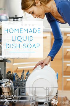 Homemade liquid dish soap that works (and is frugal, too!). Finally. #naturalliving #dishsoap #homemade