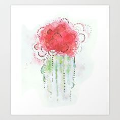 Cactus Watercolor Art Print by Melani Huggins - $20.00 Want. LOVE!