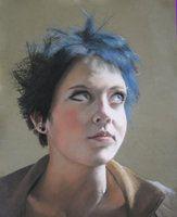 pastel portraits found on deviantART