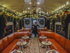Tennessee Valley Railroad's Nightcaps with St. Nick are Christmas-themed adventures departing from Chattanooga's Grand Junction Depot. Christmas Train, Christmas Fun, Vintage Christmas, Us Destinations, Twas The Night, Train Rides, Train Trip, The Night Before Christmas, Christmas Activities