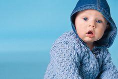 Blaue Babyjacke häkeln