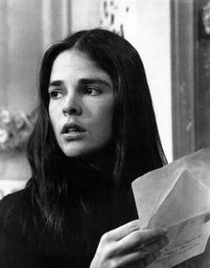 "Ali MacGraw reading a letter in Love Story (1970). Roger Ebert defined ""Ali MacGraw's Disease"" as a movie illness in which ""the only symptom is that the patient grows more beautiful until finally..."