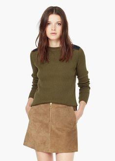 Camisola algodão canelada | MANGO