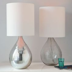 Glass jug table lamp - West Elm