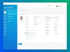 Dashboard Page (Health Company) by Yaroslav Zaytsev  🐇 - Dribbble Dashboard Interface, Web Dashboard, Dashboard Design, Interface Design, Web Design Jobs, App Design, Design Styles, Layout Design, Design Ideas