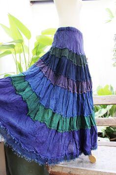 ARIEL on Earth  Boho Gypsy Long Tiered Ruffle by fantasyclothes