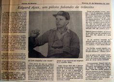 SÓ PARA LEMBRAR - Gazeta de Moema, entrevista o Piloto de Competição, Edgard Ájax e fala sobre trânsito. #gazetademoema - #entrevistacomedgardájax - #trânsitoedireçãodefensiva - www.ajax-pucci.blogspot.com