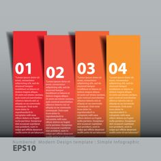 Numbers Banners design vector 05
