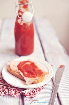 Domowy keczup   blue spoon - blog kulinarny Ketchup, Spoon, Panna Cotta, French Toast, Breakfast, Ethnic Recipes, Blog, Morning Coffee, Dulce De Leche