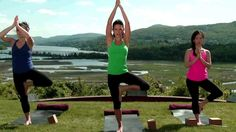 20 Minute Yoga Class with Hilaria Baldwin: Vinyasa Ashtanga (Celebrity yoga instructor Hilaria Baldwin leads an invigorating Vinyasa Ashtanga yoga workout, on the grounds of the beautiful Boscobel House and Gardens in Garrison, New York.) - health & fitness / video tutorial