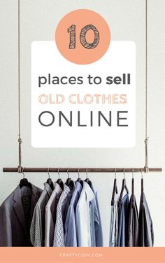 If you have a closet full of stuff that you never wear, why not make some extra cash? Here's a list of 10 great places to sell old clothes online. I've made great money using #1 and #4! Selling Used Clothes Online, Selling Online, Online Clothes Shopping, Make Money Online, How To Make Money, Money Today, Extra Money, Extra Cash, Teen Girl Fashion