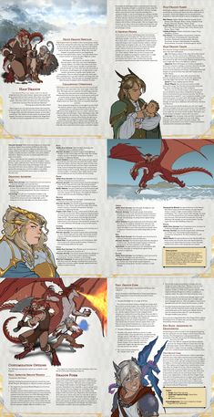 [Art] Half Dragon player race, finalized after feedback - DnD Dnd Dragons, Dungeons And Dragons 5e, Dungeons And Dragons Homebrew, Fantasy Character Design, Character Art, Character Ideas, Character Maker, Fantasy Races, Fantasy Art
