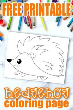 Share the magic of the forest with this easy and free printable hedgehog coloring page. This cute baby hedgehog adds so much fun to learning the Letter H in preschool, kindergarten or even homeschool. This hedgehog coloring page is also a super simple art activity for toddlers to enjoy so click here and grab your hedgehog coloring sheet today! #Hedgehogcoloringpages #Forestanimalcoloringpages #ForestHedgehogcoloringpages #SimpleMomProject Fall Coloring Sheets, Fall Coloring Pages, Animal Coloring Pages, Adult Coloring, Coloring Books, Forest Animal Crafts, Animal Crafts For Kids, Forest Animals, Kindergarten Coloring Pages