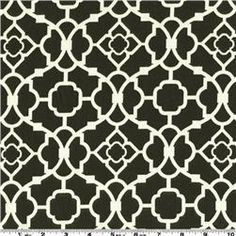 fabric swatch for the cozy - Im leaning towards black and white geometric pattern for the main (Waverly lovely lattice caviar)
