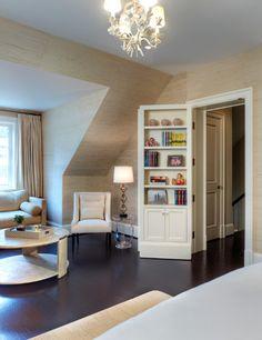 Totally digging this snap, taken from INSIDE the hidden room! Very cool. Secret room w/ bookshelf door!