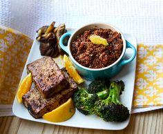 red quinoa bowl
