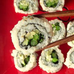 Vegan Cream Cheese and Veggie Sushi