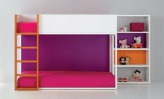 Nice and clean, simple modern bunk bed. Especially love the lower level--great for smaller kiddos.