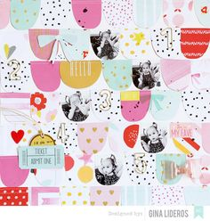 @gina_lideros Dear Lizzy Paperclips Layout for @americancrafts using the Fine And Dandy collection.