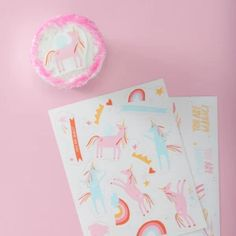 Cake Edible Stickers – Ruby Rabbit Nut Free, Dairy Free, Ruby Rabbit, Edible Cupcake Toppers, Stickers, Unicorn Party, Food Coloring, Cake Decorating
