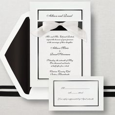 Simplicity Wedding Invitation - Classic and Simple Wedding Invitations