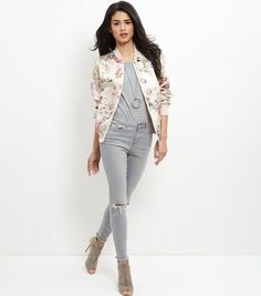 Pink Floral Print Bomber Jacket | Floral prints, Jackets and Pink