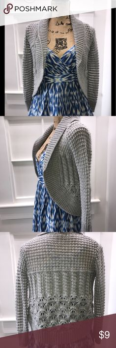 Lightweight Grey Sweater Perfect for layering over a sundress when summer nights start to cool a bit... also Winter worthy! Poof! Sweaters Shrugs & Ponchos