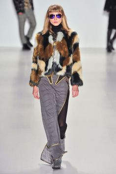fur coat! Custo Barcelona FALL 2014 RTW