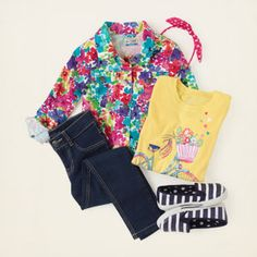 girl - outfits - Floral Fan | Children's Clothing | Kids Clothes | The Children's Place