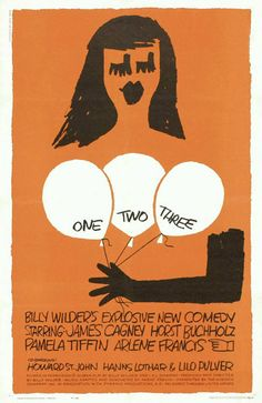 Uno, dos, tres es una película estadounidense dirigida por Billy Wilder y estrenada en 1961. Basada en la obra teatral del mismo nombre escrita por Ferenc Molnár, es una de las grandes películas cómicas de Billy Wilder, ambientada en el Berlín de la Guerra Fría. Fue candidata al Óscar a la mejor fotografía.