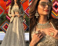 Karishma Tanna Net Embroidery Party Lehenga Blouse With Jacket Source by patelswati Blouses Lehnga Dress, Lehenga Blouse, Red Lehenga, Lehenga Choli, Jacket Lehenga, Pakistani Lehenga, Sarees, Sarara Dress, Anarkali Gown
