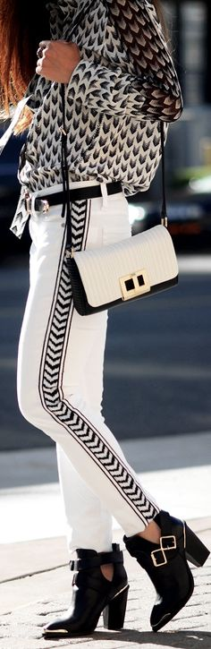 Blk and wht  ♥✤ | Keep the Glamour | BeStayBeautiful