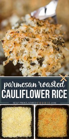 Parmesan Roasted Cauliflower Rice combines an easy and delicious vegetable side dish recipe with low carb cauliflower benefits! Cauliflower is diced into small pieces that resemble rice, but it is… More