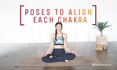 Did you know you can align your chakras with chakra yoga? Certain poses help with chakra alignment. Practice yoga for chakra alignment with these 7 poses. Yoga Poses For Back, Yoga Poses For Men, Hip Opening Yoga, Free Yoga Videos, Fitness Motivation, Bodybuilding, Partner Yoga, Restorative Yoga, Yin Yoga