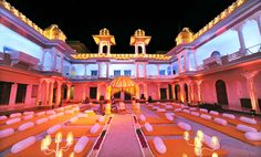Celebrate your most special ceremony of #wedding in the city of lakes #Udaipur with #Hotel Fatehgarh.  It offers comfortable and spacious rooms with a beautiful view of Lake City.. Get all arrangements according to your desire and needs.