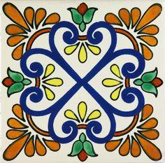 Mexican Tile Designs | zacatecas ii tile coaster trivet sets mexican tile designs sku 20091 $ ...