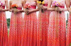 colorful bridesmaids dresses